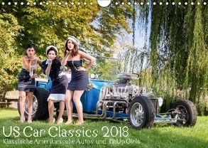 US Car Classics 2018 – Klassische amerikanische Autos und PinUp Girls (Wandkalender 2018 DIN A4 quer) von Suhl,  Michael