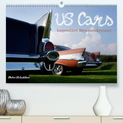 US Cars Legendäre Strassenkreuzer (Premium, hochwertiger DIN A2 Wandkalender 2021, Kunstdruck in Hochglanz) von Landsherr,  Uli