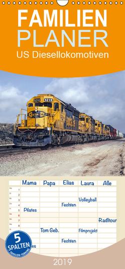 US Diesellokomotiven – Familienplaner hoch (Wandkalender 2019 , 21 cm x 45 cm, hoch) von Schulz-Dostal,  Michael