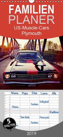 US-Muscle-Cars – Plymouth – Familienplaner hoch (Wandkalender 2019 , 21 cm x 45 cm, hoch) von Silberstein,  Reiner