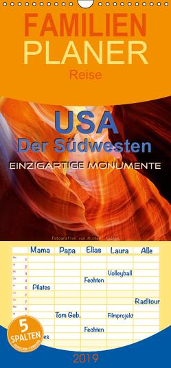 USA Der Südwesten – Einzigartige Monumente – Familienplaner hoch (Wandkalender 2019 , 21 cm x 45 cm, hoch) von Rucker,  Michael
