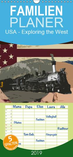 USA – Exploring the west – Familienplaner hoch (Wandkalender 2019 , 21 cm x 45 cm, hoch) von Larsen