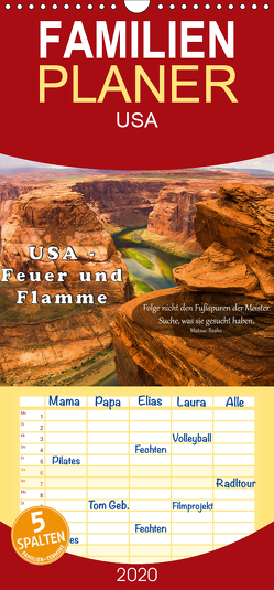 USA – Feuer und Flamme – Familienplaner hoch (Wandkalender 2020 , 21 cm x 45 cm, hoch) von Burdis,  Alexandra