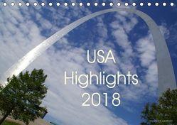 USA Highlights 2018 (Tischkalender 2018 DIN A5 quer) von Neudecker,  Tina