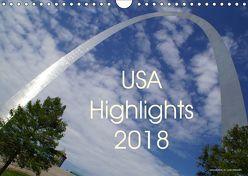 USA Highlights 2018 (Wandkalender 2018 DIN A4 quer) von Neudecker,  Tina