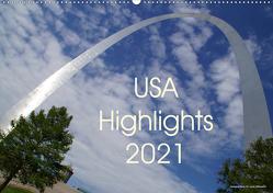 USA Highlights 2021 (Wandkalender 2021 DIN A2 quer) von Neudecker,  Tina