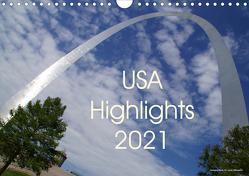 USA Highlights 2021 (Wandkalender 2021 DIN A4 quer) von Neudecker,  Tina