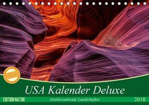 USA Kalender Deluxe (Tischkalender 2018 DIN A5 quer) von Leitz,  Patrick
