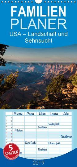 USA – Landschaft und Sehnsucht – Familienplaner hoch (Wandkalender 2019 , 21 cm x 45 cm, hoch) von Jansen,  Thomas