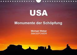 USA – Monumente der Schöpfung (Wandkalender 2019 DIN A4 quer) von Weber,  Michael