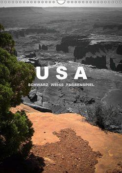 USA – Schwarz weiss Farbenspiel / AT-Version (Wandkalender 2019 DIN A3 hoch) von Stut Artwork,  Mona