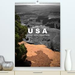 USA – Schwarz weiss Farbenspiel / CH-Version (Premium, hochwertiger DIN A2 Wandkalender 2021, Kunstdruck in Hochglanz) von Stut Artwork,  Mona