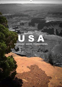 USA – Schwarz weiss Farbenspiel / CH-Version (Wandkalender 2019 DIN A2 hoch) von Stut Artwork,  Mona