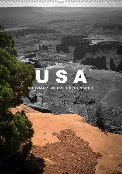 USA – Schwarz weiss Farbenspiel / CH-Version (Wandkalender 2020 DIN A2 hoch) von Stut Artwork,  Mona