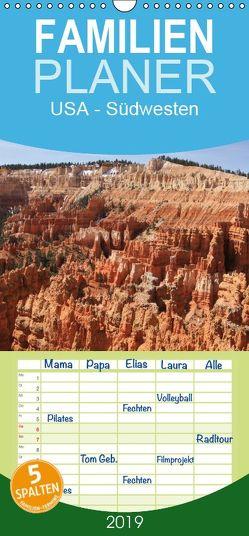 USA – Südwesten – Familienplaner hoch (Wandkalender 2019 , 21 cm x 45 cm, hoch) von N.,  N.