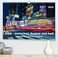USA – Zwischen dunkel und hell (Premium, hochwertiger DIN A2 Wandkalender 2020, Kunstdruck in Hochglanz) von Hans Steffl,  Mike
