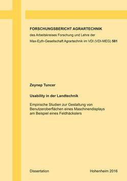 Usability in der Landtechnik von Tuncer,  Zeynep