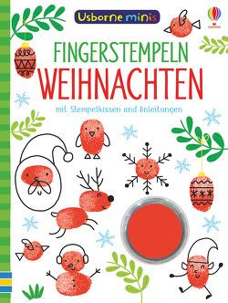 Usborne Minis: Fingerstempeln Weihnachten von Addison,  Jenny, Smith,  Sam