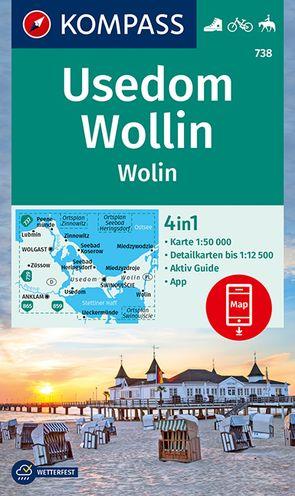 Usedom, Wollin/Wolin von KOMPASS-Karten GmbH