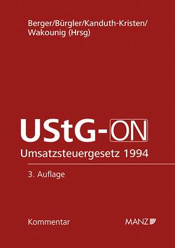 UStG-ON von Berger,  Wolfgang, Bürgler,  Christian, Kanduth-Kristen,  Sabine B, Wakounig,  Marian R
