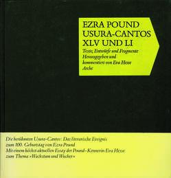 Usura-Cantos XLV und LI von Hesse,  Eva, Pound,  Ezra
