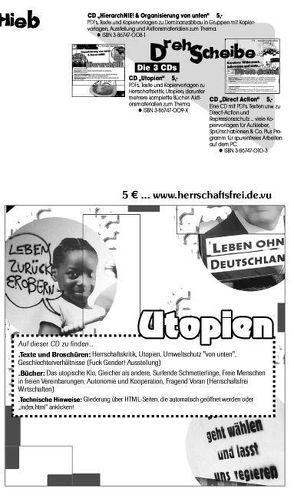 Utopien CD von Bergstedt,  Jörg, Neuhaus,  Patrick, Vollstedt,  Susann