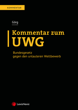 Kommentar zum UWG von Görg,  Mathias