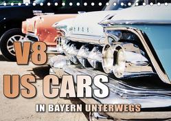 V8 US Cars unterwegs in Bayern (Tischkalender 2020 DIN A5 quer) von Gräbner,  Holger