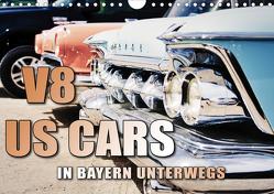 V8 US Cars unterwegs in Bayern (Wandkalender 2020 DIN A4 quer) von Gräbner,  Holger