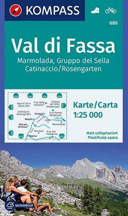 Val di Fassa, Marmolada, Gruppo del Sella, Catinaccio/Rosengarten von KOMPASS-Karten GmbH
