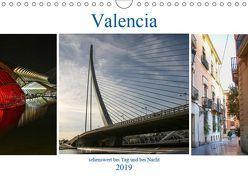 Valencia – sehenswert bei Tag und bei Nacht (Wandkalender 2019 DIN A4 quer) von Dürr,  Brigite