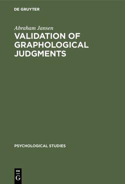 Validation of graphological judgments von Jansen,  Abraham, Spiekermann,  J. A. A.
