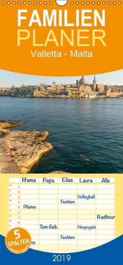 Valletta – Malta – Familienplaner hoch (Wandkalender 2019 , 21 cm x 45 cm, hoch) von Schickert,  Peter