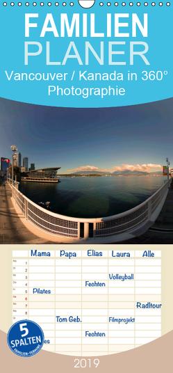 Vancouver / Kanada in faszinierender 360° Panorama-Photographie – Familienplaner hoch (Wandkalender 2019 , 21 cm x 45 cm, hoch) von by AmosArtwork,  Copyright, Portele,  Armin
