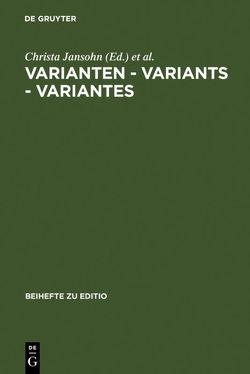 Varianten – Variants – Variantes von Jansohn,  Christa, Plachta,  Bodo