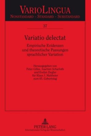Variatio delectat von Gilles,  Peter, Scharloth,  Joachim, Ziegler,  Evelyn