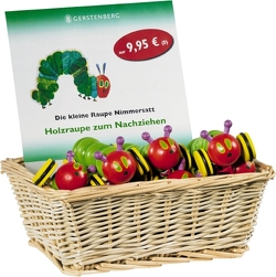 VE Die kleine Raupe Nimmersatt – Holzraupe 10 Ex. im Display von Carle,  Eric