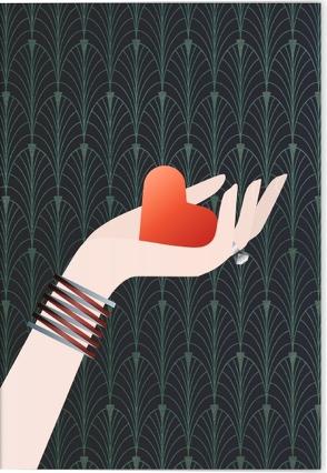 VE Die Macht der Liebe Klappkarte – Motiv Rotes Herz 5 Ex. von Schöll,  Stephan