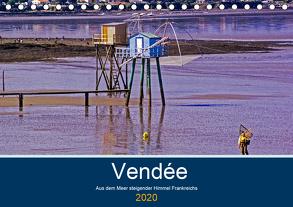 Vendée Aus dem Meer steigender Himmel Frankreichs (Tischkalender 2020 DIN A5 quer) von Benning,  Kristen