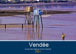 Vendée Aus dem Meer steigender Himmel Frankreichs (Wandkalender 2021 DIN A2 quer) von Benning,  Kristen