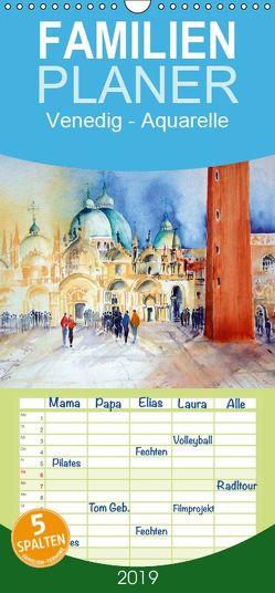 Venedig – Aquarelle – Familienplaner hoch (Wandkalender 2019 , 21 cm x 45 cm, hoch) von Dürr,  Brigitte