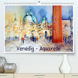 Venedig – Aquarelle (Premium, hochwertiger DIN A2 Wandkalender 2021, Kunstdruck in Hochglanz) von Dürr,  Brigitte