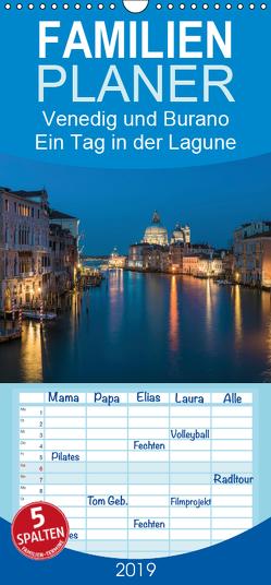 Venedig und Burano – Ein Tag in der Lagune – Familienplaner hoch (Wandkalender 2019 , 21 cm x 45 cm, hoch) von Claude Castor I 030mm-photography,  Jean
