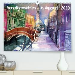 Venedigansichten in AquarellAT-Version (Premium, hochwertiger DIN A2 Wandkalender 2020, Kunstdruck in Hochglanz) von Pickl,  Johann