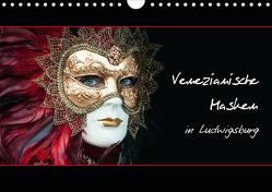 Venezianische Masken in Ludwigsburg (Wandkalender 2021 DIN A4 quer) von M. Koch,  Harald