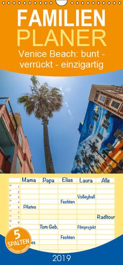 Venice Beach: bunt – verrückt – einzigartig – Familienplaner hoch (Wandkalender 2019 , 21 cm x 45 cm, hoch) von Fietzek,  Anke