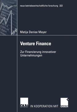 Venture Finance von Mayer,  Matija Denise