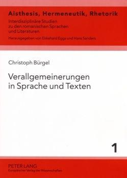 Verallgemeinerungen in Sprache und Texten von Bürgel,  Christoph