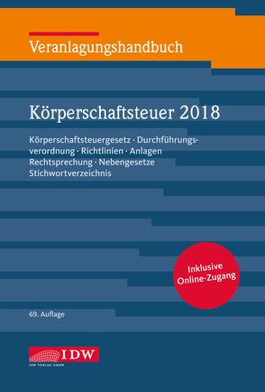 Veranlagungshandb. Körperschaftsteuer 2018, 69. A. von Kontny,  Thorsten, Lennartz,  Manfred
