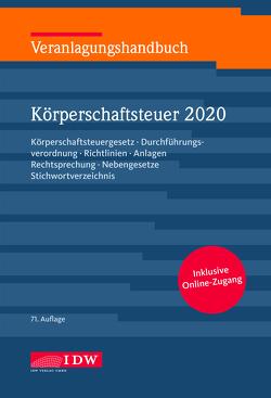 Veranlagungshandb. Körperschaftsteuer 2020, 71. A. von Kontny,  Thorsten, Lennartz,  Manfred